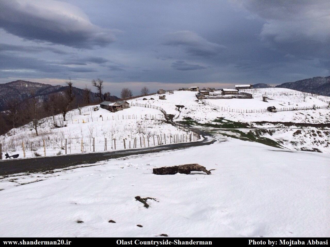 چشم اندازهای زیبای زمستانی از ییلاقات و کوهستانهای شاندرمن (سری یک)