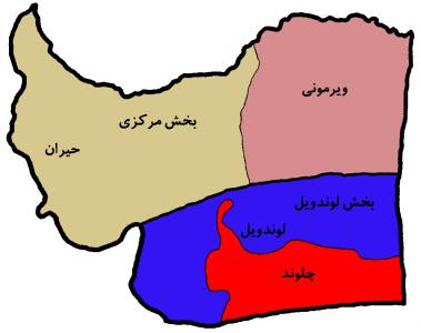 نقشه تقسیمات داخلی شهرستان مرزی بندر آستارا