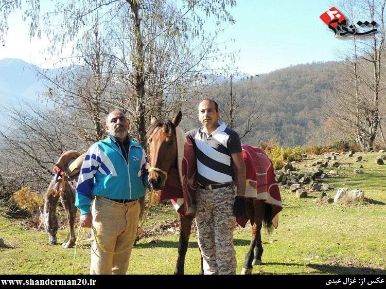گشت زنی سوارکاران شاندرمنی در یک روز زمستانی - غزال عبدی - شاندرمن۲۰ (۲)