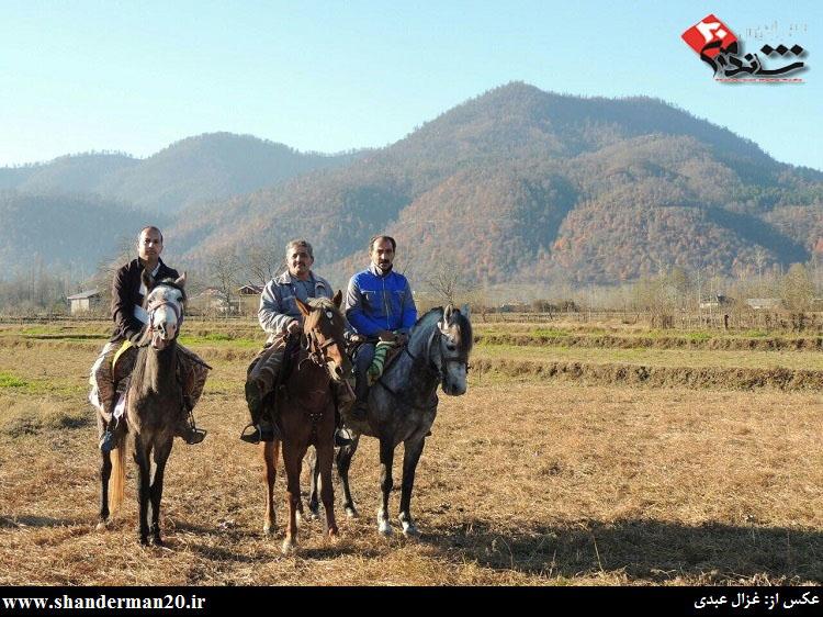 گشت زنی سوارکاران شاندرمنی در یک روز زمستانی - غزال عبدی - شاندرمن۲۰ (۸)