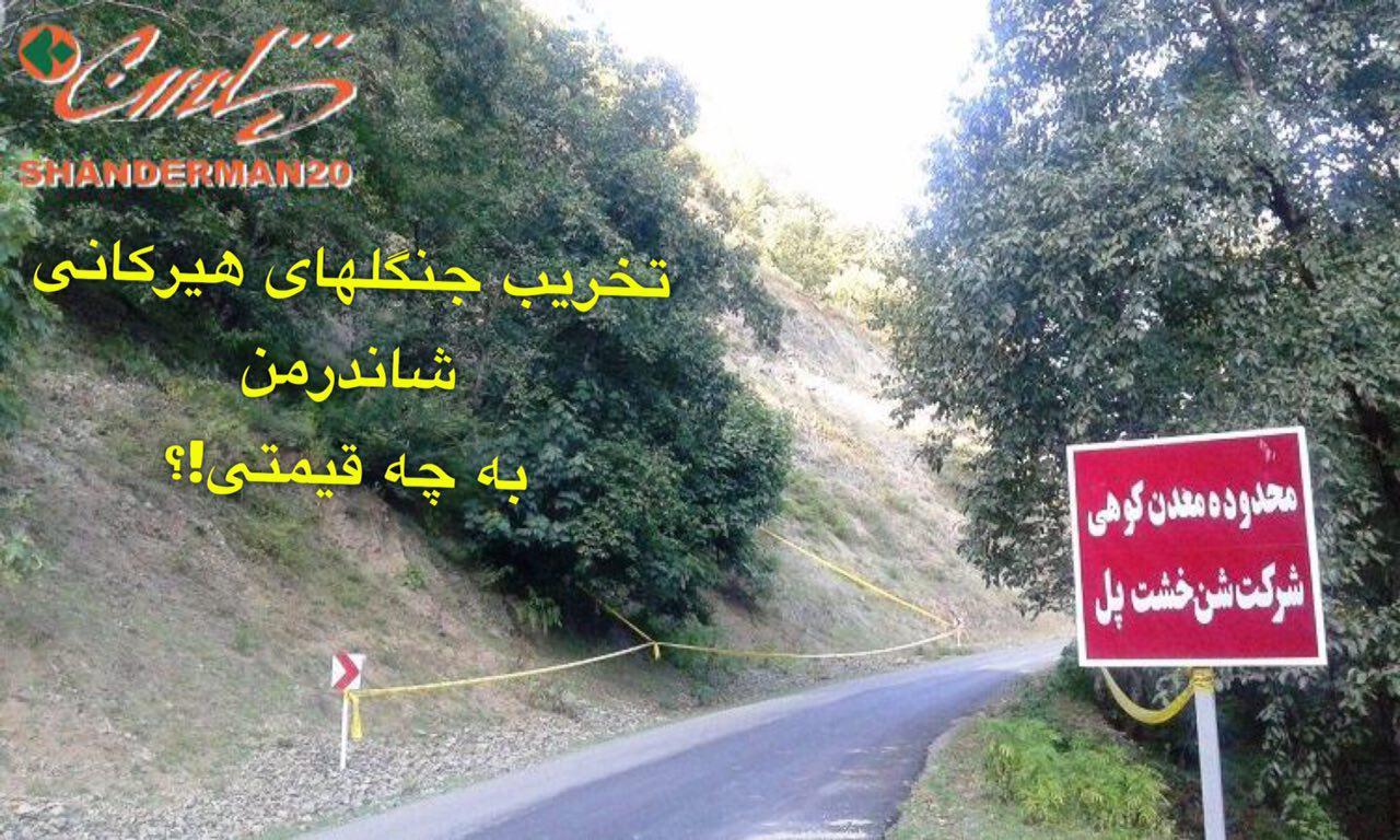 برداشت شن و تخریب جنگل در امام زاده شفیع شاندرمن متوقف شد / رئیس منابع طبیعی: باید مجوزات لازم گرفته شود