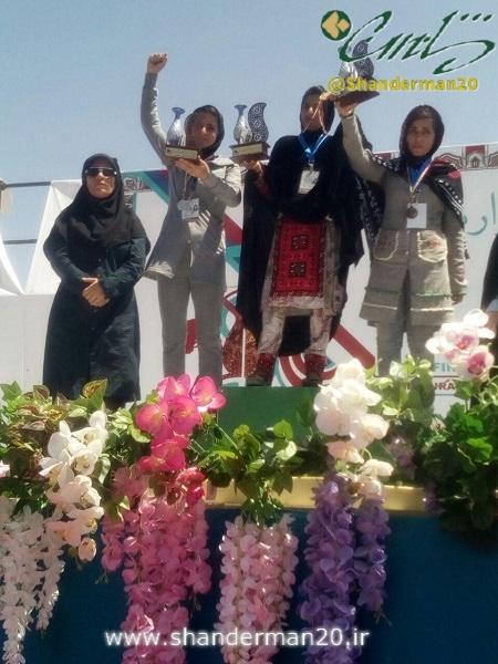 تنها عنوان تیم ماسال و شاندرمن (نمانیده استان گیلان) در رشته بانوان بود که خانم ساناز حقیقی در رشته تیراندازی با کمان بانوان به مقام دوم کشوری دست یافت