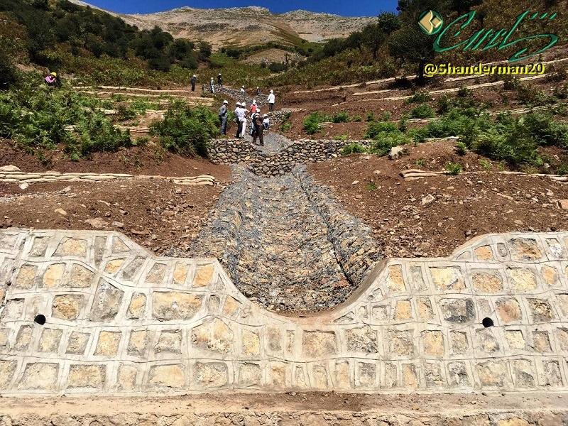 پایان عملیات طرح آبخیزداری ییلاق النزه شاندرمن